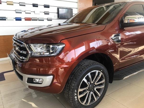 Ngoại thất Ford Everest 2020 màu đỏ sunset - Ford Everest 2020 | Nâng cấp đèn Full Led và SYNC 3.4 mới nhất