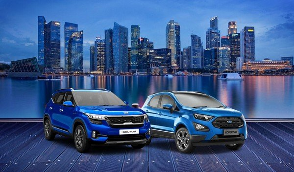 xe ford ecosport 2021 gia re - So sánh Ford Ecosport 2021 và Kia Seltos 2021