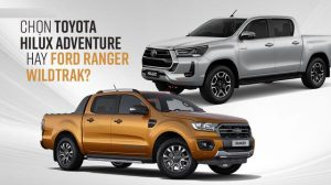 So sánh Toyota Hilux và Ford Ranger 2021